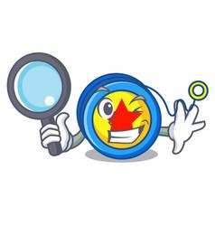 Detective yoyo character cartoon style vector