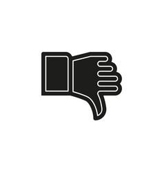 dislike hand thumb down symbol sign gesture vector image