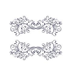 dividers floral decorative ornaments vector image