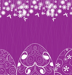 Easter background with eggs ornament vector