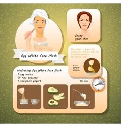 Egg White Face Mask Recipes vector