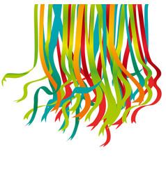 Festive color ribbon design element vector