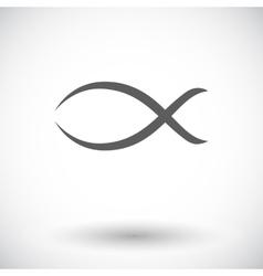 Fish single icon vector image