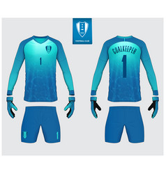 Goalkeeper jersey or soccer kit mockup vector