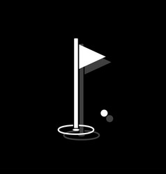 golf flag icon flat vector image