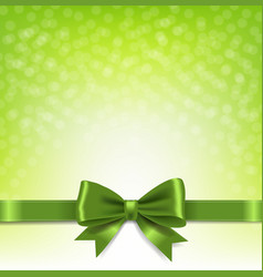 green bokeh background with bow vector image