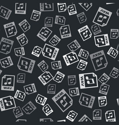 Grey wav file document download wav button icon vector
