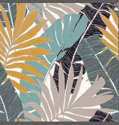 hand drawn abstract tropical summer background vector image
