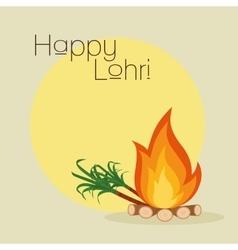 happy lohri background vector image