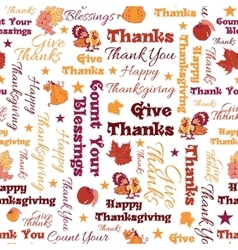 Happy Thanksgiving Text Seamless Pattern vector