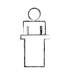 Human silhouette in dais vector
