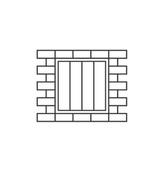 Jail window line icon vector