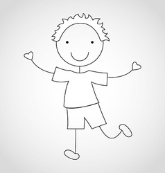 kid draw vector image