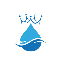 king water abstract concept logo icon vector image