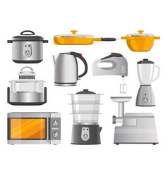 kitchen electric appliances and modern supplies vector image
