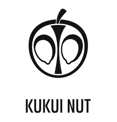 Kukui nut icon simple style vector
