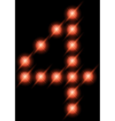 led digits 4 vector image