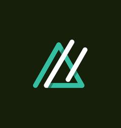 letter a outline monogram modern logo vector image
