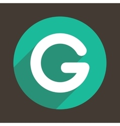 Letter G Logo Flat Icon Style vector