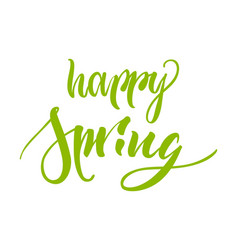 lettering happy swing green isolated vector image