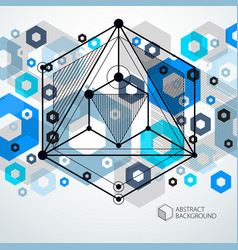 modern isometric abstract blue background with vector image
