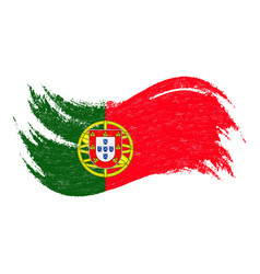 National flag of portugal designed using brush vector