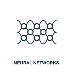 Neural networks icon outline style thin line vector