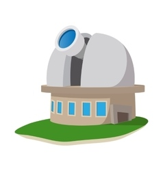 Observatory station cartoon icon vector image