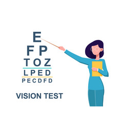 ophthalmologist conducting an eye test vector image
