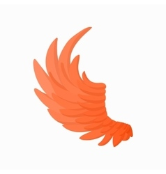 Orange wing icon cartoon style vector
