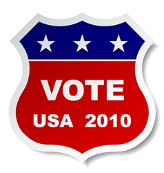 patriotic vote sticker vector image