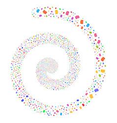 Photo camera fireworks spiral vector