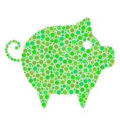 piggy collage of dots vector image