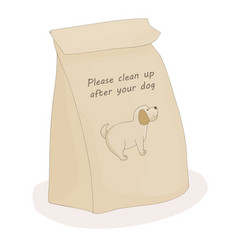 please clean up after your pet paper poop package vector image