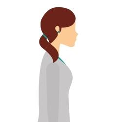 Professional scientific woman job isolated icon vector