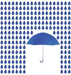 rain and umbrella vector image