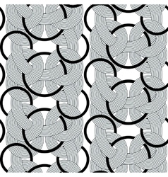 rond lines geometry seamless pattern vector image