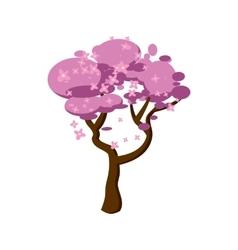 Sakura icon cartoon style vector