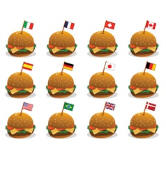 sandwich flags vector image