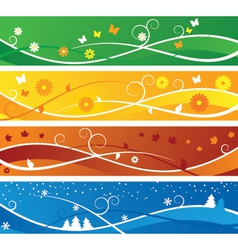 Seasons Banners vector image