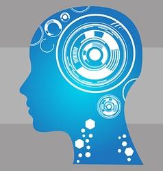 side head human vector image