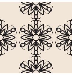 Stylized flower Seamless elegant Ornamental vector image