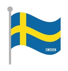 sweden patriotic flag isolated icon vector image