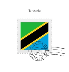 Tanzania flag postage stamp vector