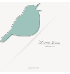 Template of brochure with stylized bird vector image