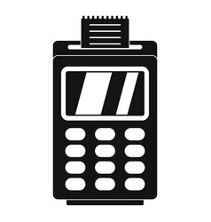 Terminal for cashless payment icon simple style vector