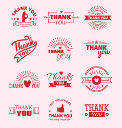 Thank you quote slogan citate text message vector