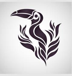 toucan logo icon design vector image