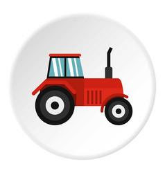 tractor icon circle vector image