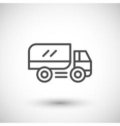 Truck line icon vector image